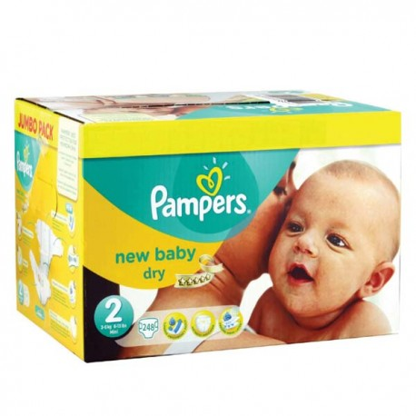 248 Couches Pampers New Baby Taille 2 à Petit Prix Sur Les Looloos