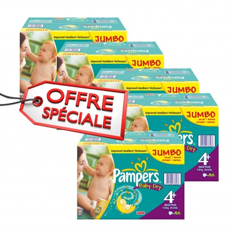 1008 Couches Pampers Baby Dry Taille 4 A Petit Prix Sur Les Looloos
